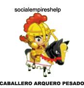 imagen del caballero arquero pesado de social empires
