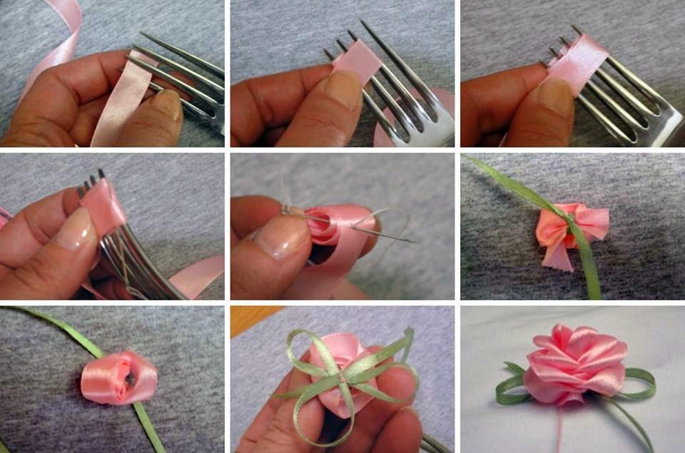 Как самому сделать маленькие розочки
