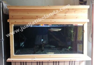 aquarium dengan bahan kayu jati belanda yogyakarta