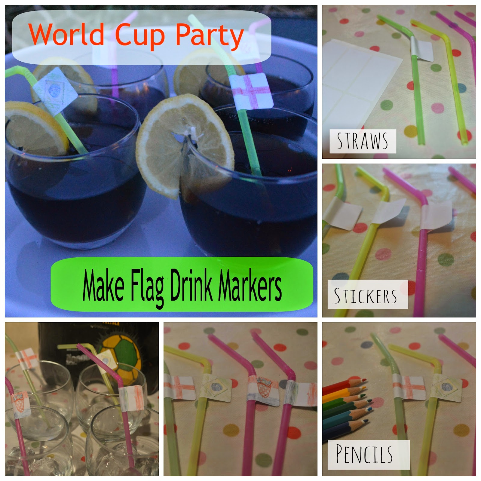 Flag Drink Markers Craft Big Match Planner Party Coca Cola Zero Refreshments CBIAS FIFA World Cup Brazil 2014