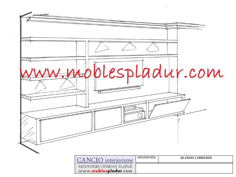 Pladur barcelona muebles de pladur para sal n - Muebles pladur para salon ...