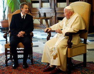 Blair and Pope John-Paul II