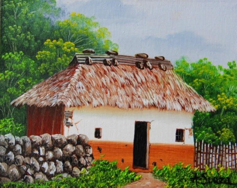 paisajes-pequeños-con-casa-y-arboles