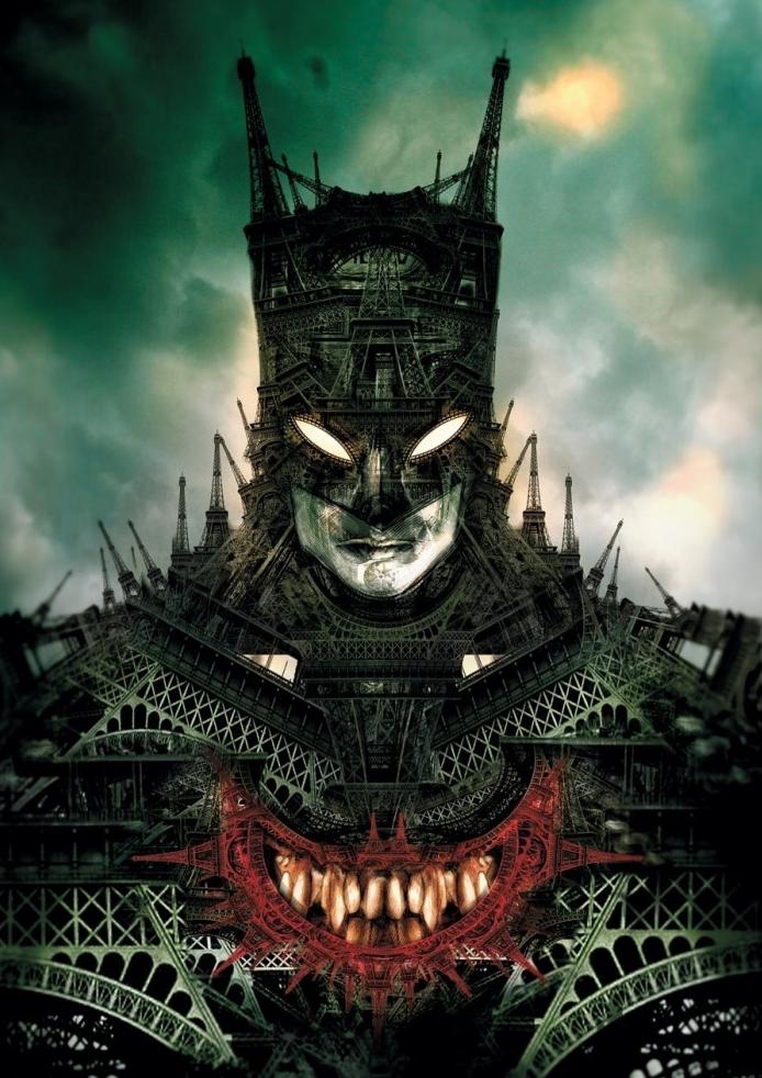 Batman feito de várias Torres Eiffel