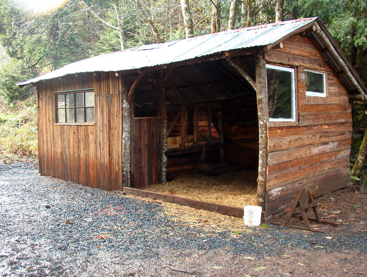Lloyd s blog goat shed built with scrap poles and for Horse barn materials
