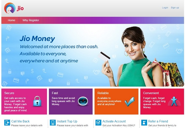 Jio Money Ewallet App