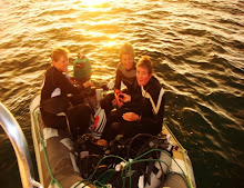 Karen, Cheryl, & Deb leaving for night dive.  Jim, with an ear issue was cooking dinner