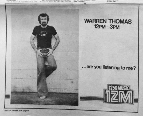 1ZM ad, dj warren thomas, Rip It Up mag oct 1978