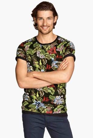 camiseta estampada hombre H&M verano