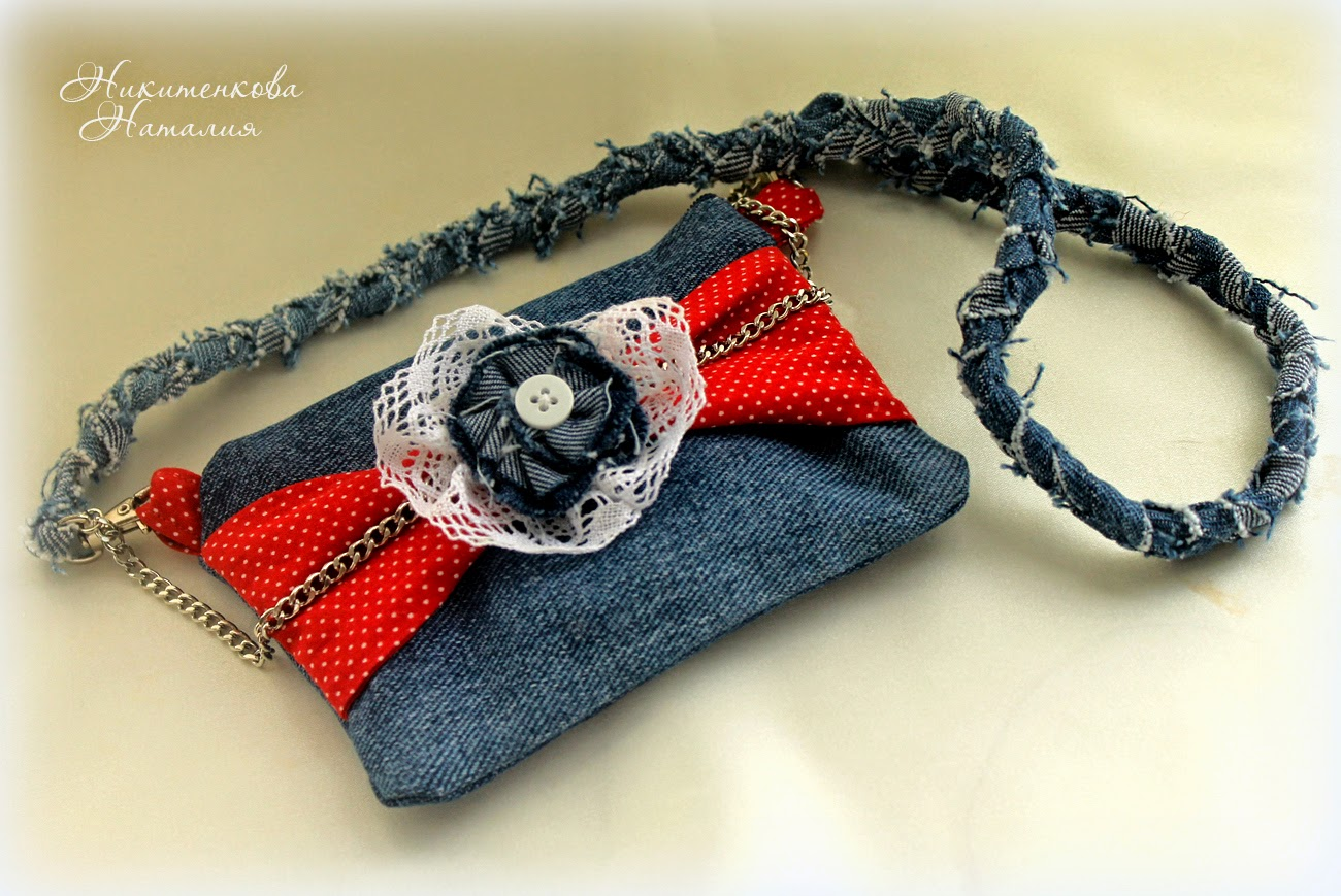 сумочка для девочки джинсовая, шитье, детская сумочка