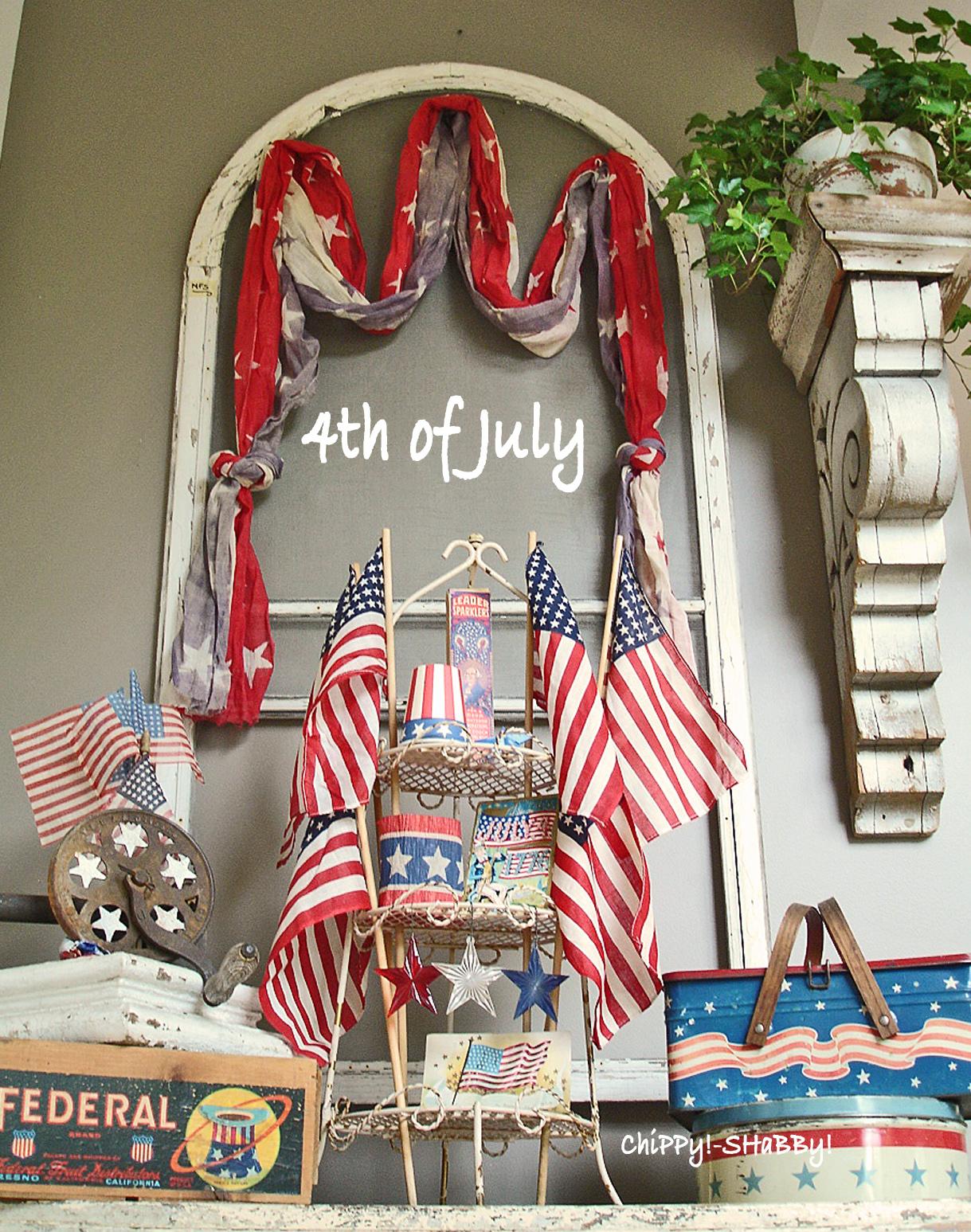 chippy shabby vintage 4th of july chippy. Black Bedroom Furniture Sets. Home Design Ideas