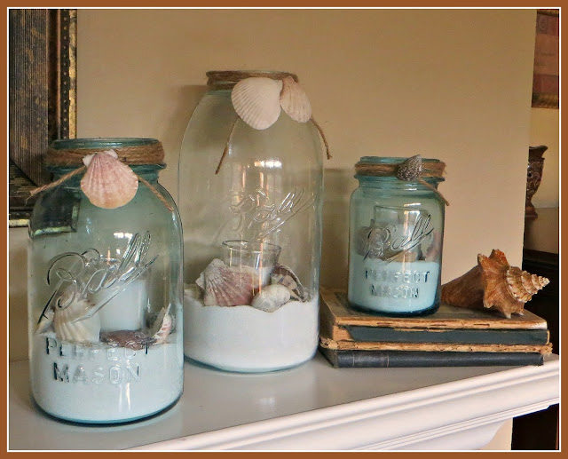 Beach Theme Ball Jars by Crafty In Crosby