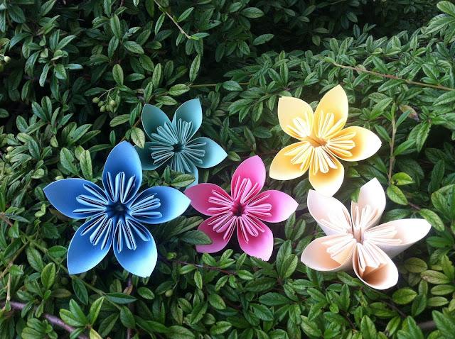 DIY flores de papel varios colores