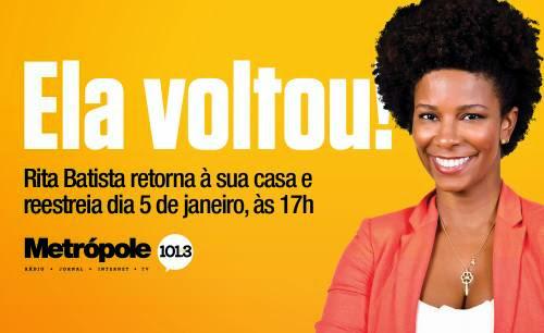 Rita Batista assina com a rádio Metrópole
