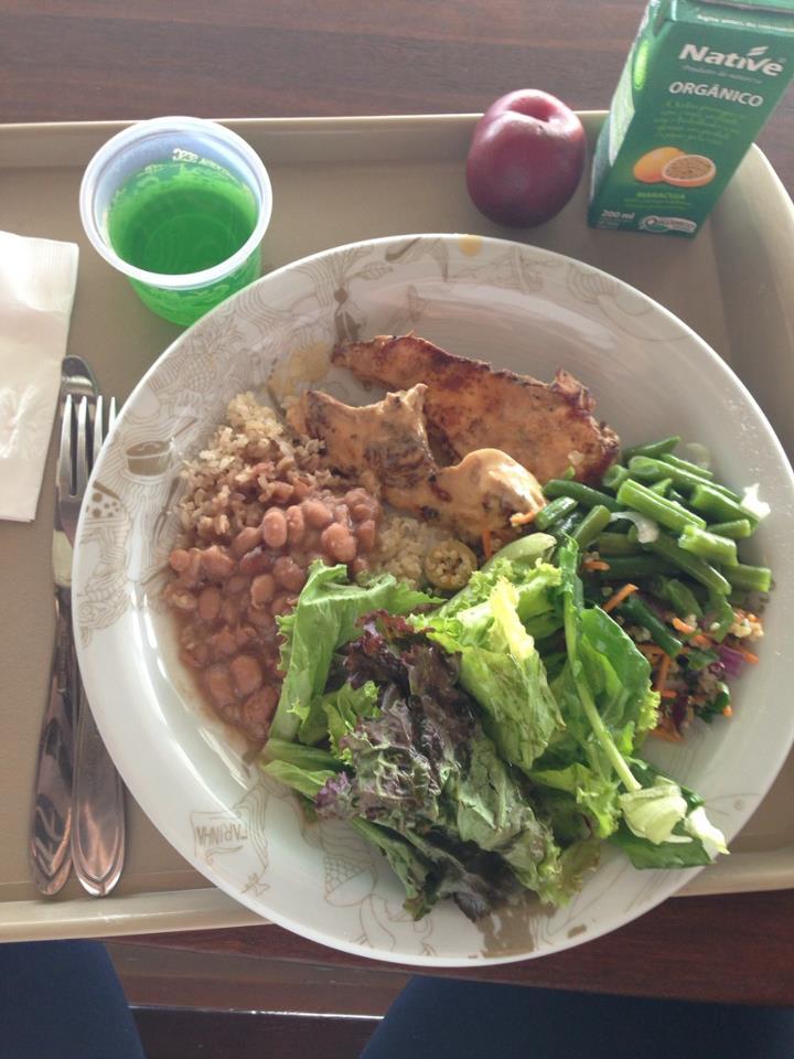 Almoço light de Elis Reche. Foto: Arquivo pessoal