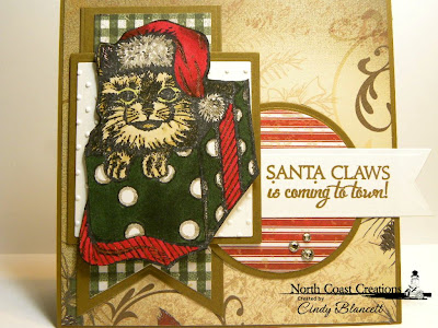 Stamps - North Coast Creations Santa Claws, Our Daily Bread Designs Christmas Paper Collection 2013