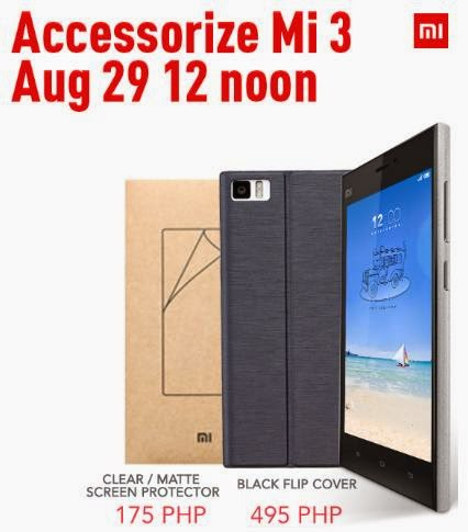 Xiaomi Mi 3 Accessories Available This August 29