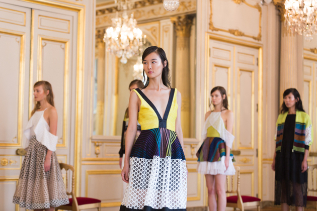Another view, dress with yellow top, natargeorgiou spring 2016