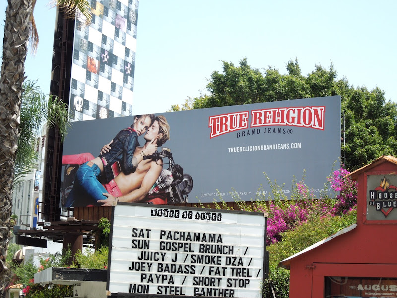 True Religion Jeans biker billboard