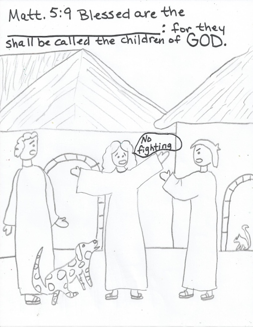beatitudes coloring page pages