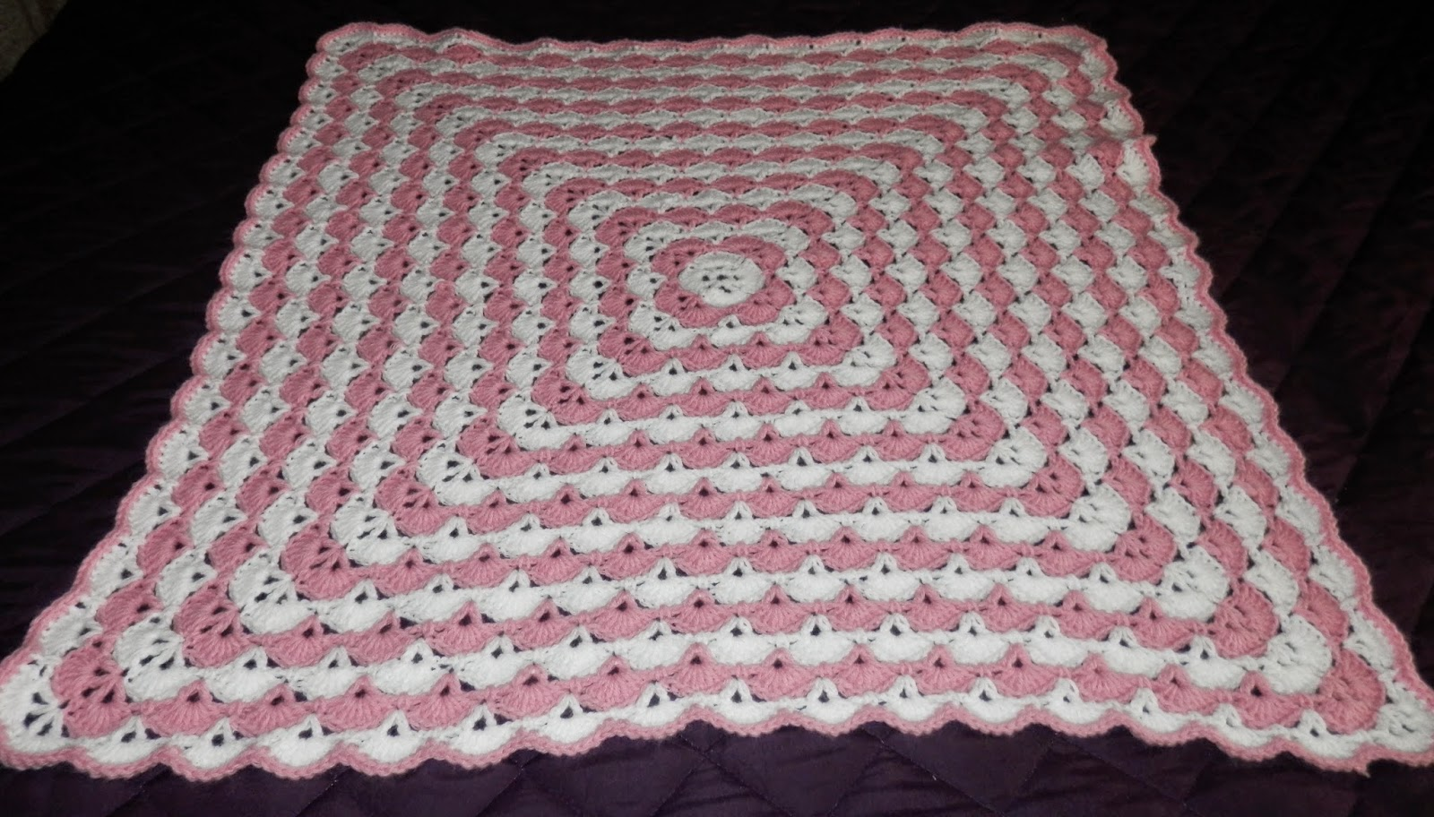 my Picot Baby Blanket in Pink