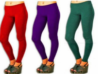 Buy Set of 3 Street Diva Cotton Lycra Smooth Fit 4 way Stretch Legging for Rs.399 at Stophere