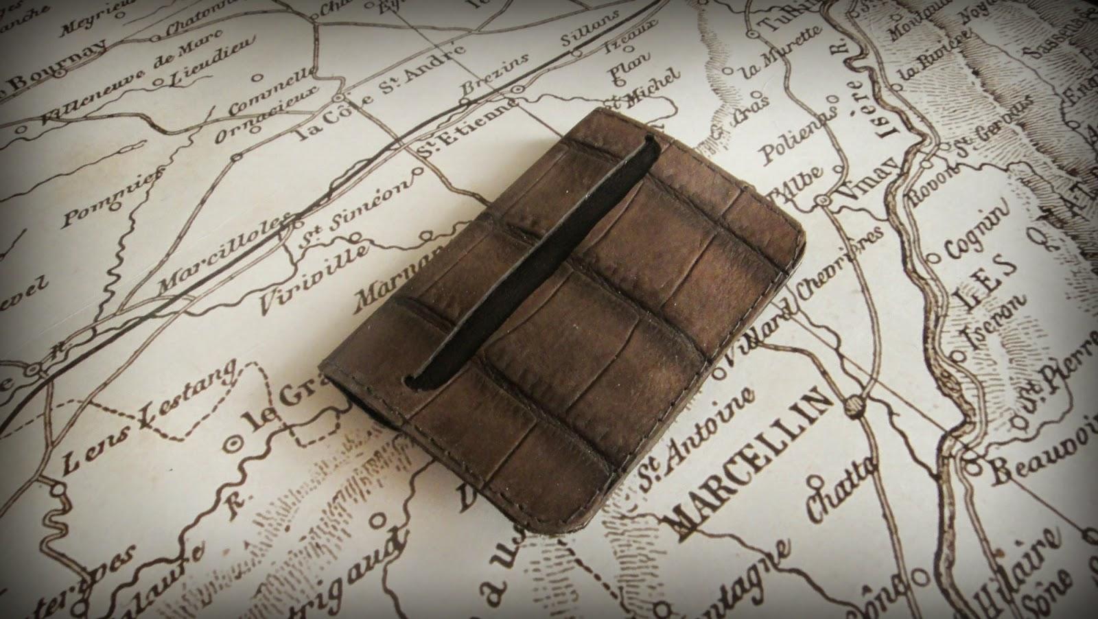 Кожаный карман для визиток и карточек, визитница из кожи