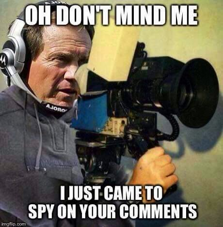Oh don't mind me I just came to spy on your comments
