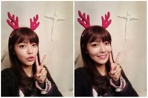 SNSD Sooyoung Christmas Picture Welcoming 2013