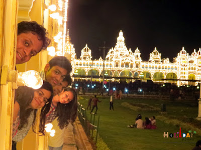trip to Mysore palace with friends