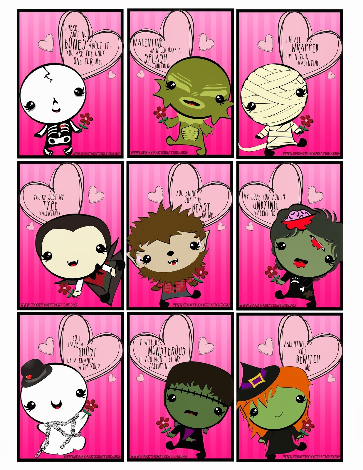 spooky pooky creations 2015 valentine cards