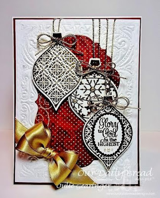 Our Daily Bread Designs,  Elegant Embellishments, Vintage Flourish Patterns Dies, Elegant Embellishments Dies, Vintage Label Dies, Christmas Collection 2015 6x6 Paper Designer-Julie Gearinger