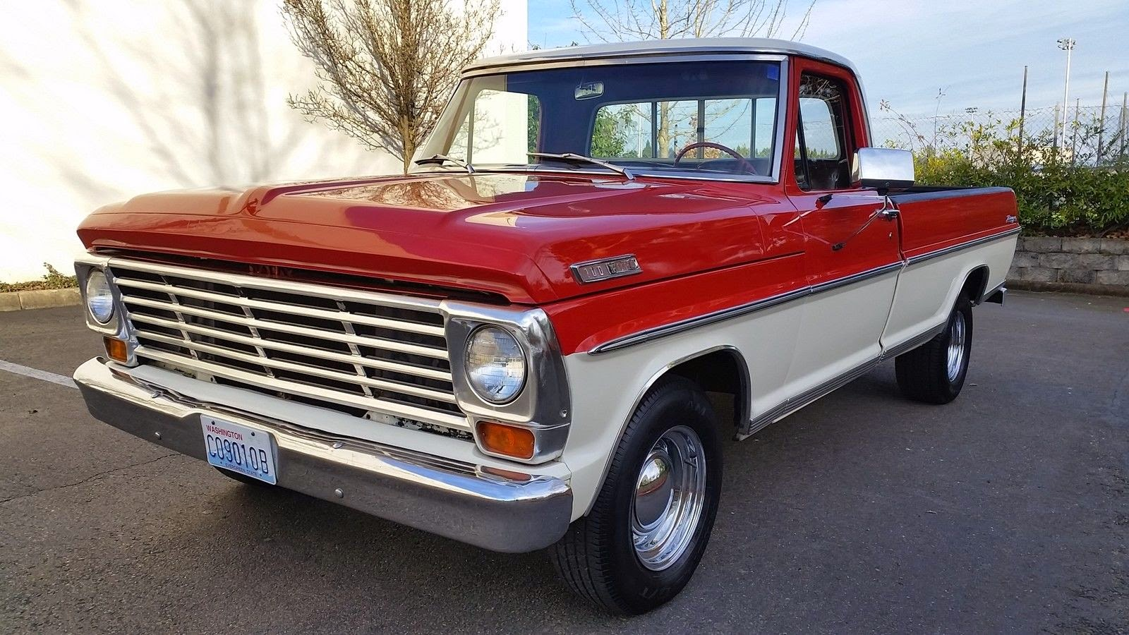 all american classic cars 1967 ford f100 pickup truck. Black Bedroom Furniture Sets. Home Design Ideas