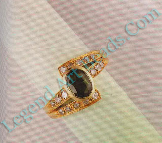 Ring with green sapphire, 1.83