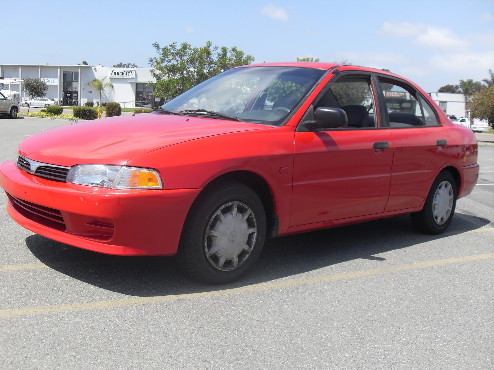 2000 mitsubishi mirage de red