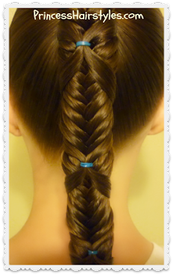 Cute hairstyle idea.  Fishtail wrap braid tutorial.