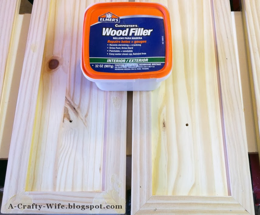 Use wood filler to fill nail holes for Ikea Rast hack | A Crafty Wife