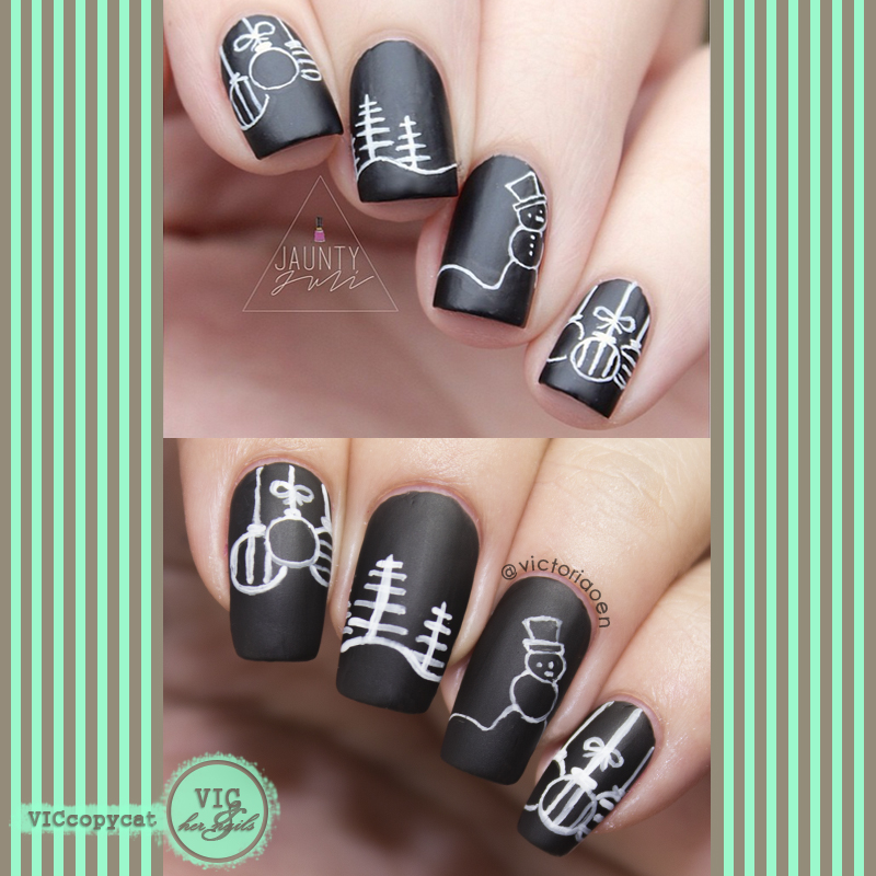 Vic and Her Nails: VicCopycat - Christmas Chalkboard Doodles by ...