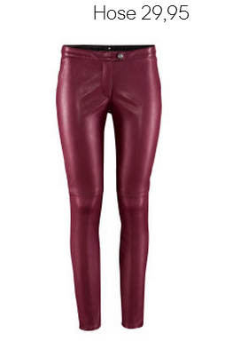 Burgundy Fake Leather Pants, H&M Fall 2012 Collection