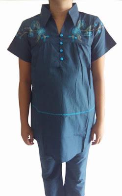Contoh Baju Kerja Hamil Lengan Pendek