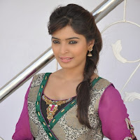 Sanchita shetty photo gallery in salwar kameez at villa press meet