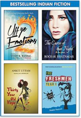 Buy Bestselling Indian Fiction (Set of 4 Books) at Amazon at Rs 199