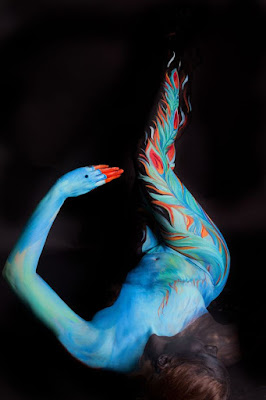 Green Pear Diaries, arte, body painting, Gesine Marwedel