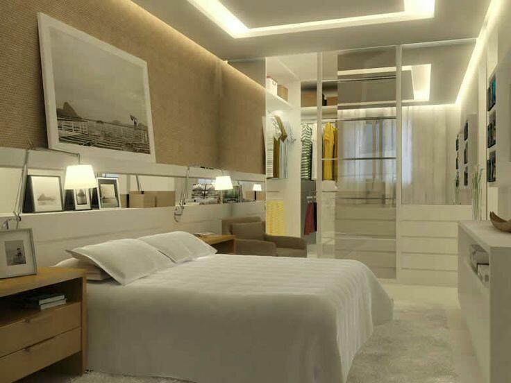 Construindo minha casa clean 20 quartos com closet veja for Modelos de closet de dormitorio
