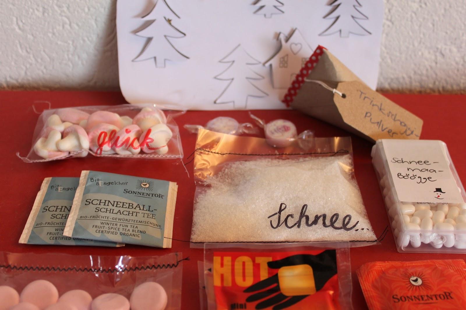 Winter-Set zum Verschenken: Weihnachtsgeschenke basteln mit Kindern ...