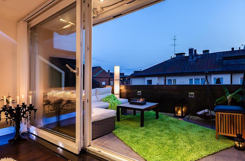 Estilo nordico poco convencional unconventional nordic style - Alfombra terraza ...