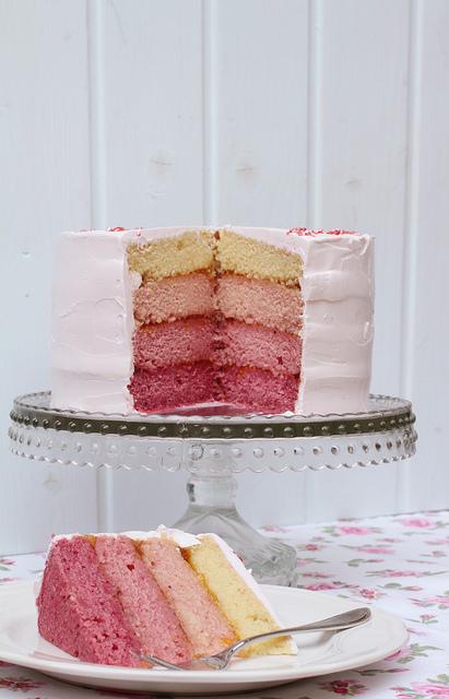 La primera vez que ví esta Raspberry ombre cake casi muero de amor!!