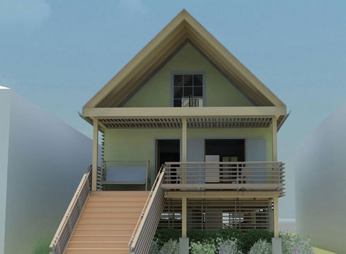 Small homes designs ideas exterior views interior home for Small house entrance design