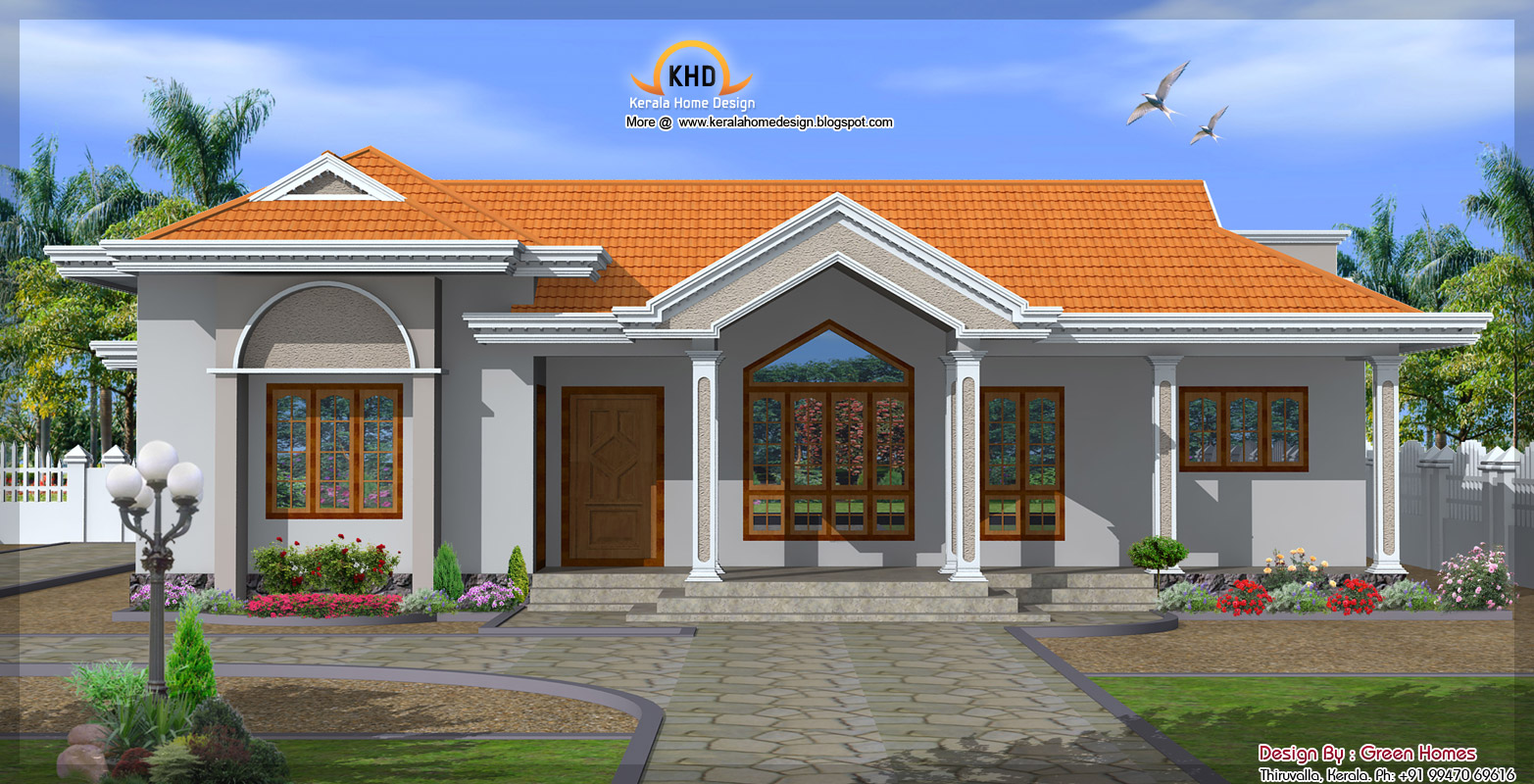 October 2011 kerala home design and floor plans One floor house plans