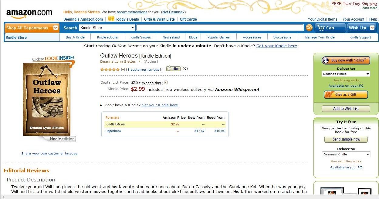 Deanna lynn sletten december 2011 self publishing ebooks on amazon fandeluxe Gallery